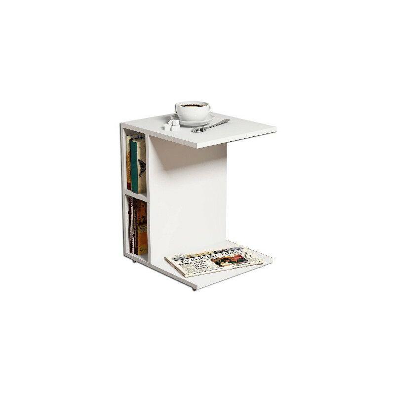 Ufficio-Tavolo DAppoggio Homemania Tavolino da Caff/è Ceylin Per Salotto 35 x 57.5 x 45 cm Soggiorno Noce