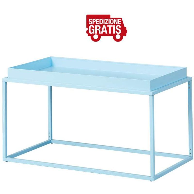 Tavolino Club New York 80 x 45 x 45 Azzurro - INTER LINK