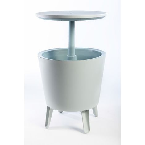 Tavolino Con Contenitore.Tavolino Con Contenitore Termico Keter Cool Bar Bianco