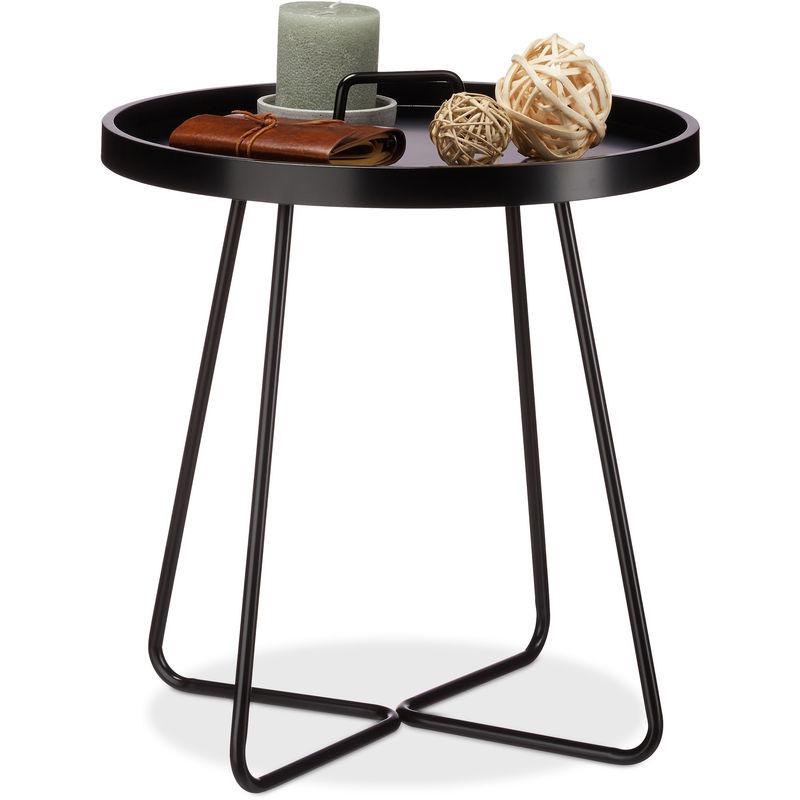 BIANCO Design e moderni Set di 2 tavolini da caff/è impilabili con ripiani amovibili Colore