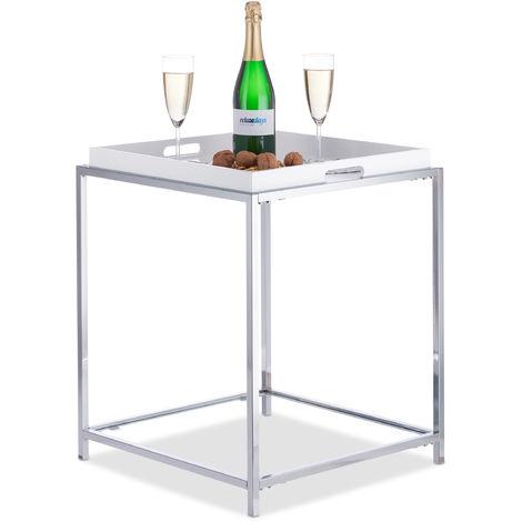 Tavolino Con Vassoio Asportabile.Tavolino Con Vassoio Rimovibile Tavolinetto Quadrato Da