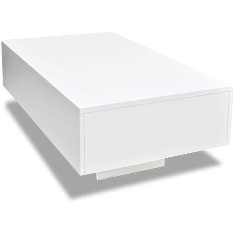 Tavolino da Caffè Lucido Bianco