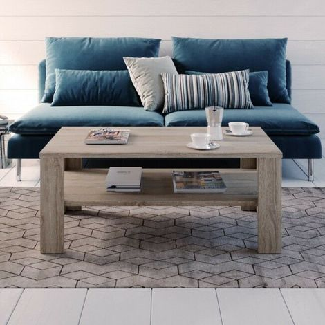Tavolino da caffè tavolo salotto soggiorno tavolo da tè design moderno in  legno