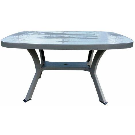 Bauer Tavolino da Giardino 136x82x72 cm in Resina Cleopatra Tortora
