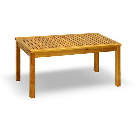 Tavolino Basso In Legno Da Giardino.Tavolino Da Giardino Basso In Legno Di Acacia 100 Centimetri