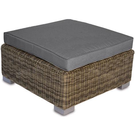Tavolino Da Giardino Pouf In Wicker Con Cuscino 76x76 Cm Vorghini ...