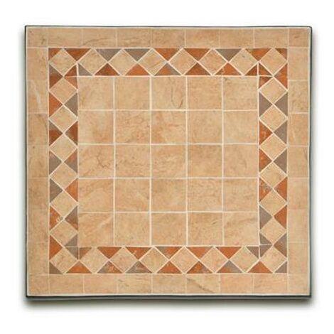 Tavoli In Maiolica Da Giardino.Tavolino Da Giardino Quadrato In Ferro Con Piano In Ceramica A