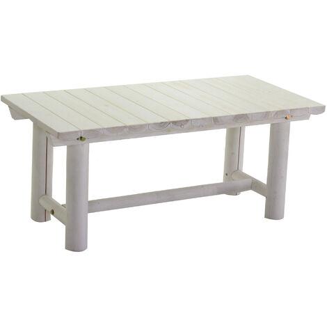Tavolino Basso In Legno Da Giardino.Tavolino Da Giardino Rettangolare In Legno Adami Kyoto Bianco