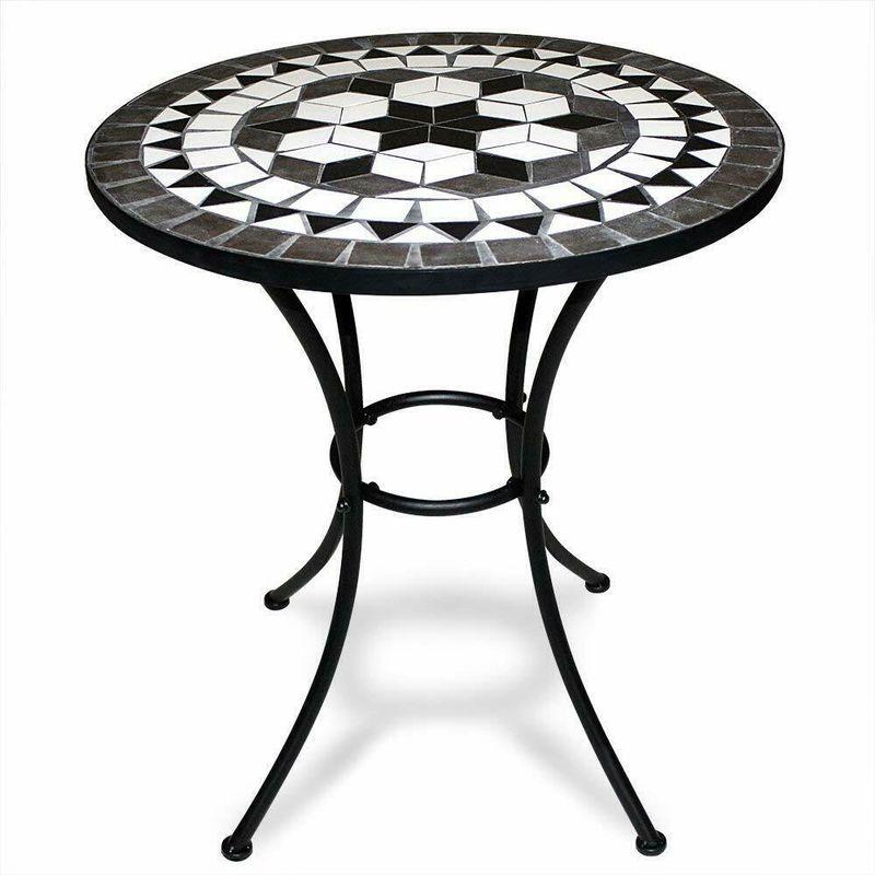 Tavoli Da Esterno In Mosaico.Tavolino Da Giardino Tavolo Da Esterni In Ferro Con Mosaico Vari Modelli Colore Nero