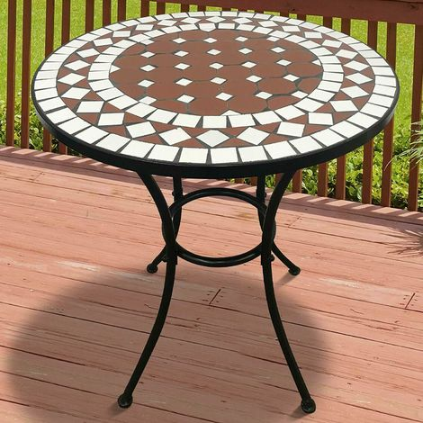 Tavoli Di Ferro Per Esterno.Tavolino Da Giardino Tavolo Da Esterni In Ferro E Mosaico Vari