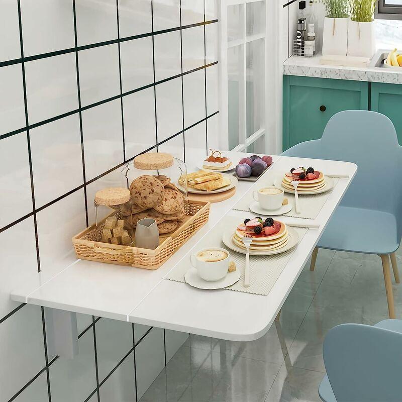 Tavolo Pieghevole A Parete.Tavolino Da Muro Pieghevole Tavolo Da Parete In Legno 80 X 60 X 45