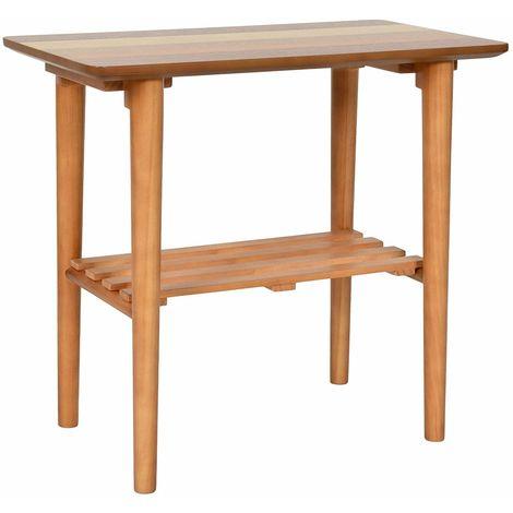 Tavolino da salotto basso con 2 ripiani tavolo da caffè in legno