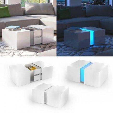 Tavolino da salotto caffé moderno con illuminazione a led ...