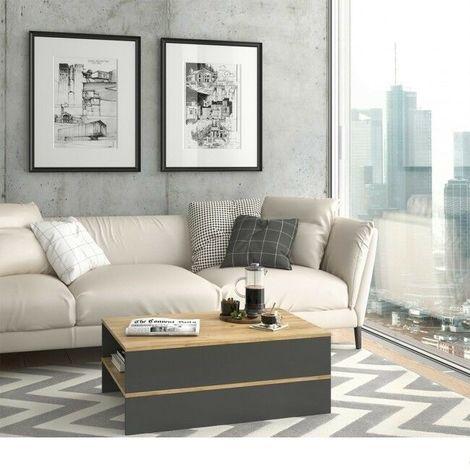 Tavolino da salotto caffè design moderno con ripiano 110x31x60 ...