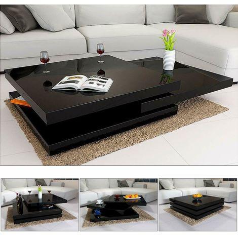 Tavolino da salotto caffè tè moderno 2 colori 60x60x30 5 cm bianco o ...