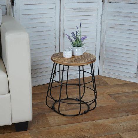 Tavolini Da Salotto Arredamento.Tavolino Da Salotto Con Corpo In Metallo Ideale Per Arredo Casa A069