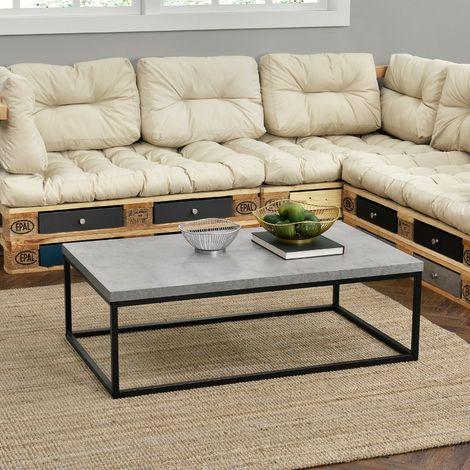 Tavolino da salotto con piano in legno e telaio in ferro tavolo da ...