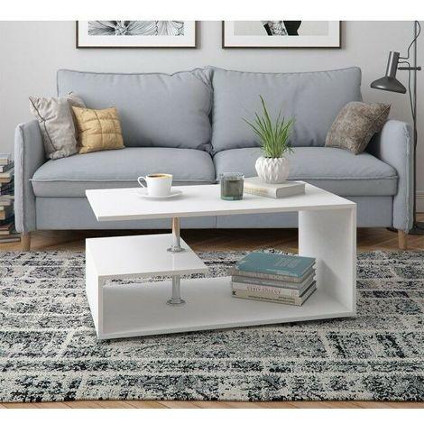 Tavolino da salotto in legno design moderno bicolore con for Salotto design moderno
