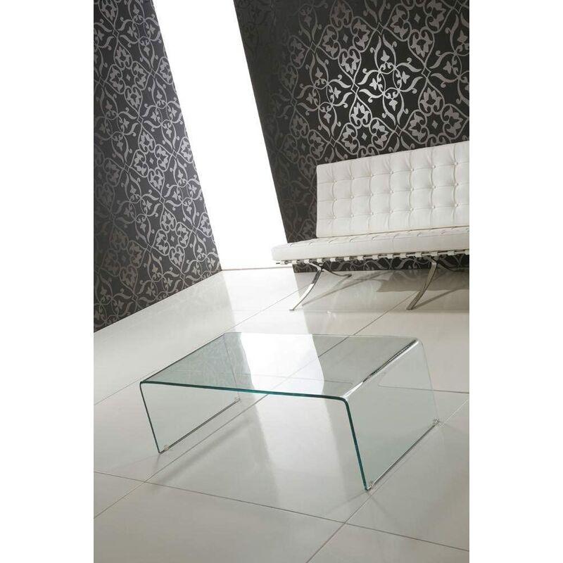 Tavolino da salotto in vetro curvato tavolo basso da caffè elegante in  vetro Luxury Z-01