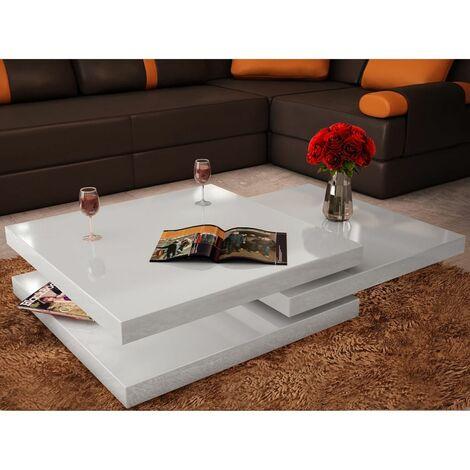 Tavolino Moderno Per Soggiorno.Tavolino Da Salotto Moderno Tavolino Bianco Lucido Con