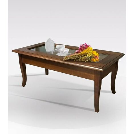 """main image of """"Tavolino da salotto Rettangolare in Legno Bacheca noce"""""""