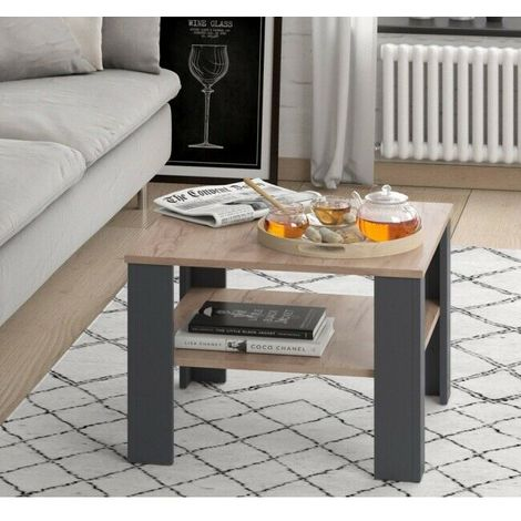 Tavolino da Salotto Soggiorno Caffè Design Moderno Quadrato con ...
