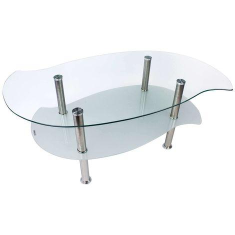 Tavolino Da Salotto Design.Tavolino Da Salotto Soggiorno Caffe Design Moderno Con 2 Ripiani In