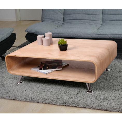 Tavolino da salotto soggiorno con due ripiani misure 33 x 90 x 60 cm