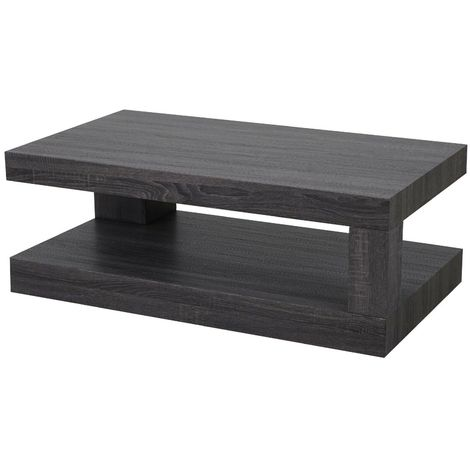 Tavolini Da Salotto In Legno Moderni.Tavolino Da Salotto Soggiorno Dal Design Moderno In Legno Con Doppio Ripiano