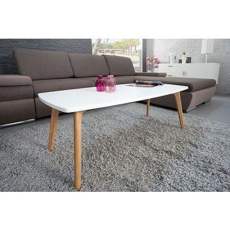 Tavolino da salotto soggiorno dal design moderno legno con 4 piedi