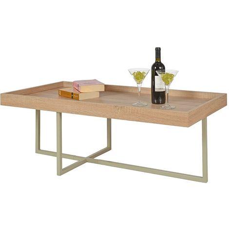Tavolino da salotto soggiorno tavolo da caffè tavolino con piano in legno