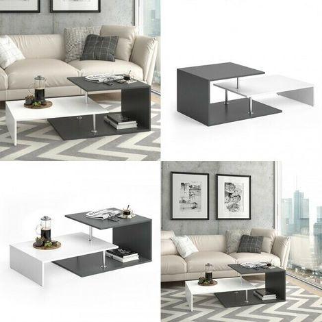 Tavolino Da Salotto Design.Tavolino Da Salotto Tavolo Da Caffe Design Moderno Bicolore E Tre