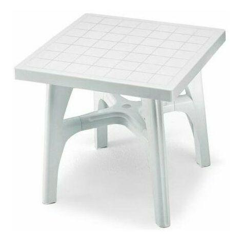 Tavolo Giardino Plastica Verde.Tavolino Esterno Resina Tavolo Giardino Plastica Verde Bianco Scab 80x80