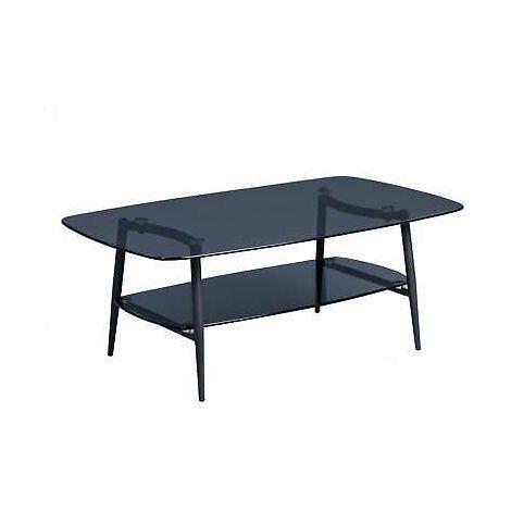 Tavolino in metallo e vetro tavolino da salotto basso 100x38x60 cm ...