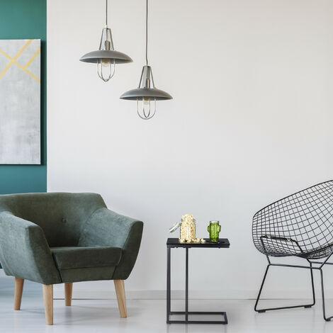 tavolino da salotto struttura in ferro per camera da letto 50 x 19 x 55 cm Tavolino laterale da letto divano Cikonielf comodino con borsa di tela