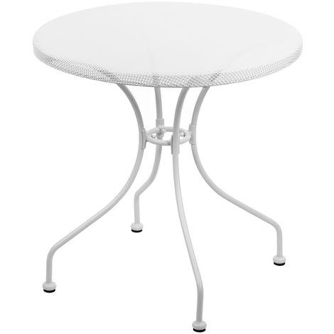 Tavolo Ferro Bianco.Tavolino Netty Da Giardino In Ferro Bianco Rosa O Verde