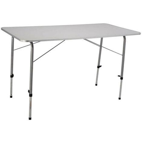 Tavolino Esterno Pieghevole.Tavolino Pieghevole E Regolabile In Altezza 120 X 60 Per Campeggio Spiaggia Mare Piscina Giardino