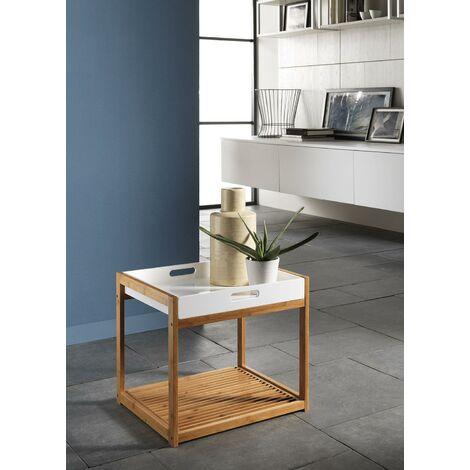 Tavolino Quadrato Con Vassoio In Bambù 44x40x40cm Tft Accessories ...