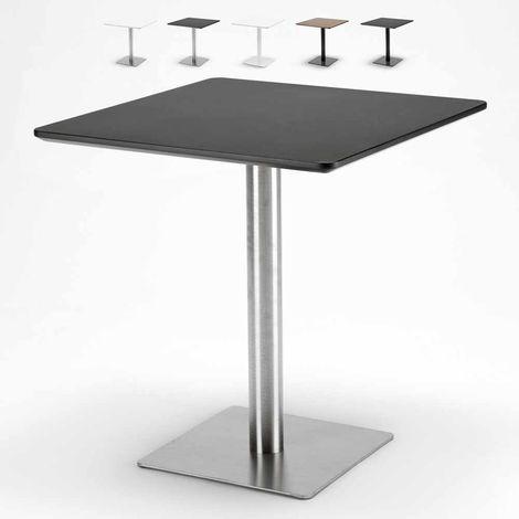 Tavolo Rettangolare Che Diventa Quadrato.Tavolino Quadrato Per Bar Ristoranti Hotel 70x70 Horeca Nero