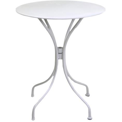 Tavolo Piccolo Da Giardino.Tavolino Rotondo Da Giardino In Ferro Old Bianco