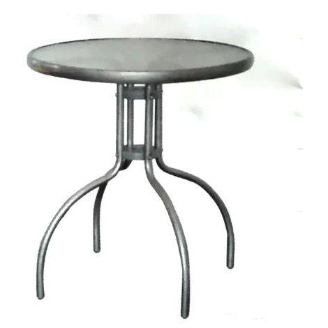 Tavolino tondo 60cm da giardino - esterno vetro e acciaio modello ...