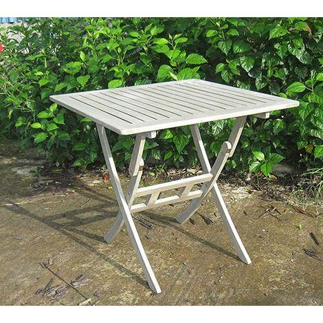 Tavolo Pieghevole Da Terrazzo.Tavolo 80x80 Da Giardino In Legno Quadrato Acacia Pieghevole Da