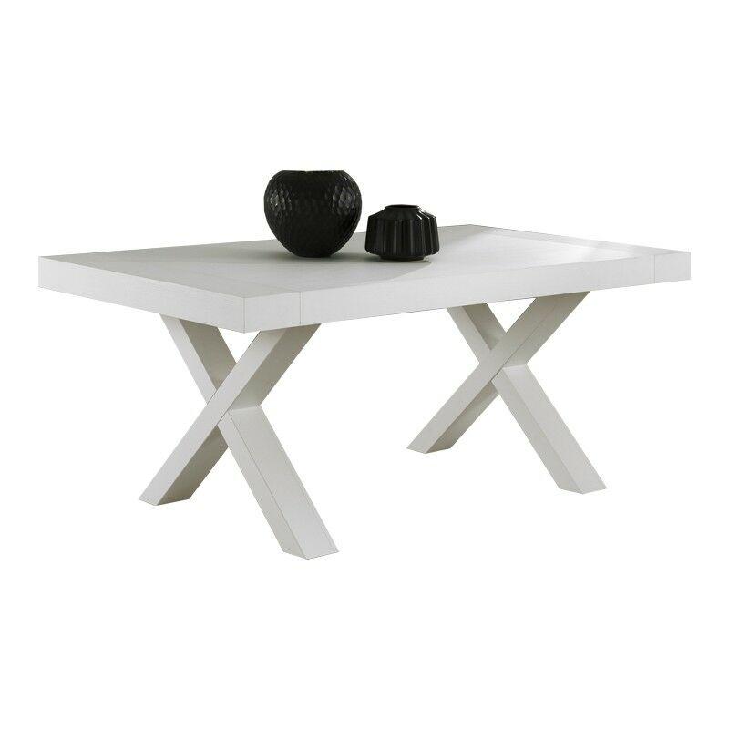 Argonauta - Tavolo allungabile in folding finitura bianco larice 180/280x100xh.75 cm