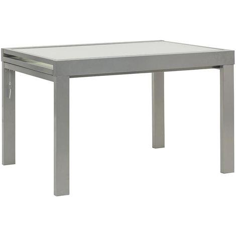 Tavolo Allungabile Vetro Satinato.Tavolo Allungabile In Alluminio Piano In Vetro Satinato Sprint120