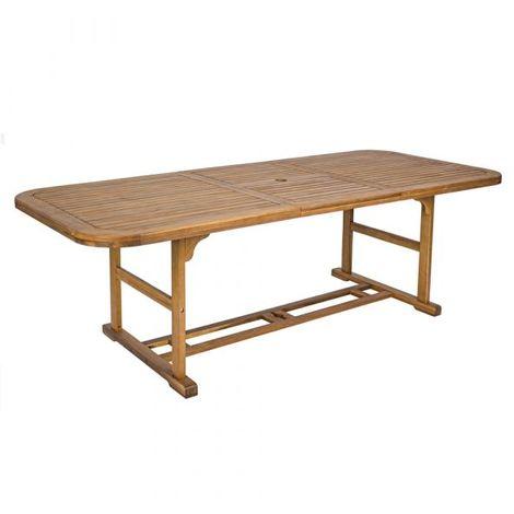 Tavolo Allungabile In Legno Per Esterno.Tavolo Allungabile In Legno Di Acacia Disponibile In Diverse Misure