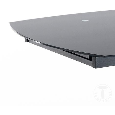 Tavolo Allungabile Twisted Di Tomasucci Realizzato Con Basamento In Metallo E Piano In Vetro Temperato Tom