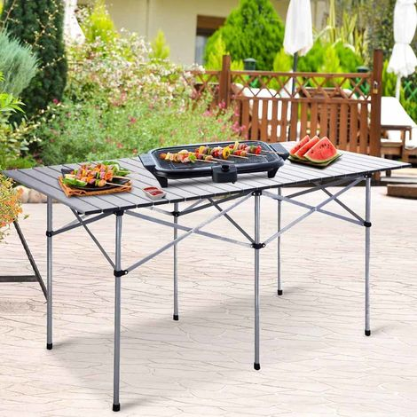 Tavolo Arrotolabile Campeggio E Outdoor.Tavolo Arrotolabile In Alluminio 70 X 140 X 70 Picnic Campeggio