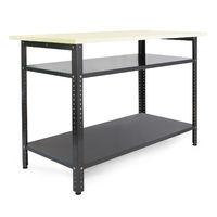 Tavolo banco da lavoro multiuso 120×60×95cm Ripiano porta attrezzi