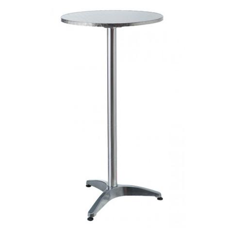 Tavolo Bar Alto.Tavolo Bar Bistrot Alto Rotondo In Alluminio 60x110cm Tavolino Da Pub Giardino
