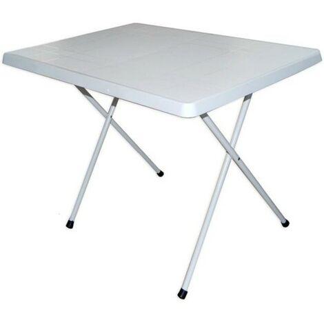 Tavolo bianco 80x60x51 cm pieghevole design esterno 2 for Tavolo pieghevole design